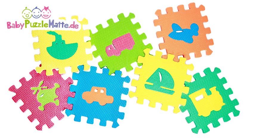 Puzzlematte mit verschiedenen Motiven