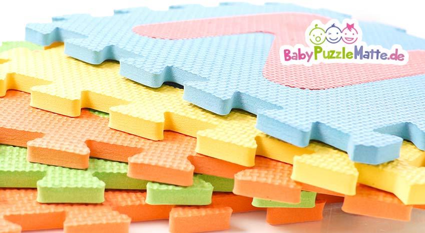 Eine Puzzlematte pastell mit leichten Farben für ein schönes Bild im Kinderzimmer